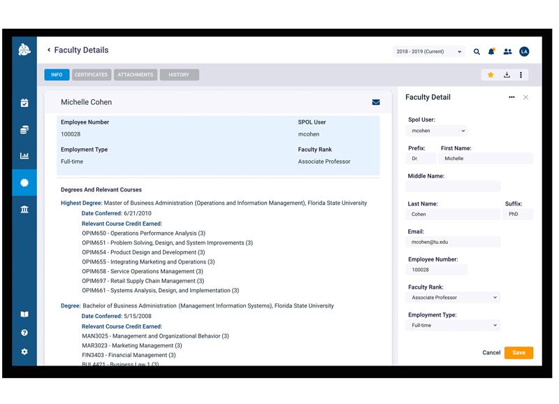 SPOL Diamond Credentialing Screen