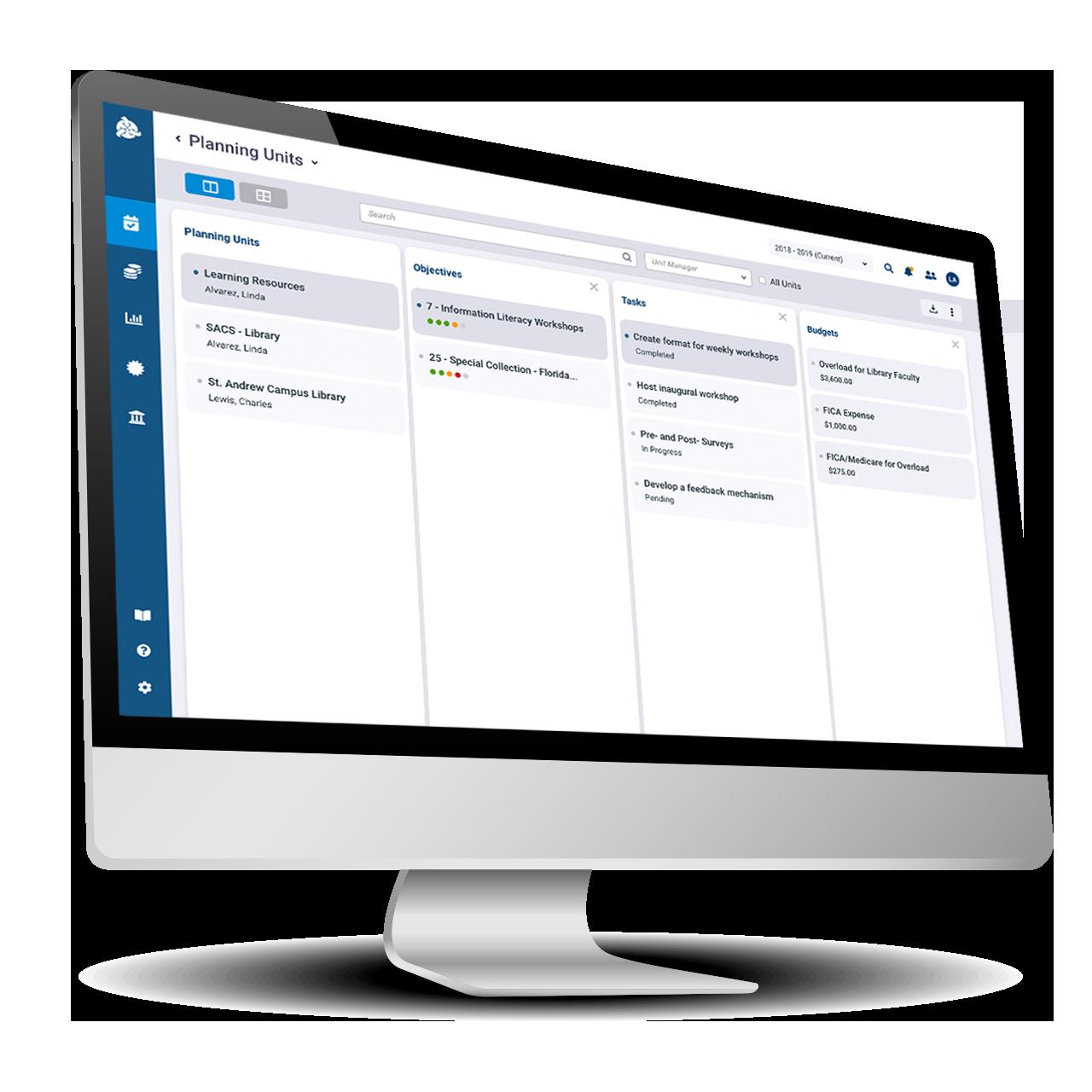 SPOL Diamond Monitor Planning Screen